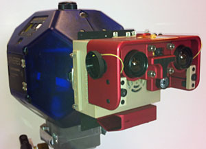 "Tweddle's team developed the VERTIGO goggles which collect data from moving objects in space. It's been described as ""WALL-E on a flying head."""