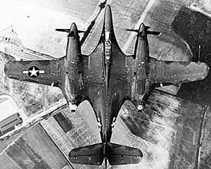 From this view of the XP-67 in flight, it is easy to see why some called it the 'Bat'