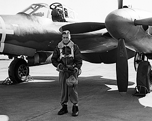 McDonnell Aircraft chief test pilot E.E. Elliot prior to first flight of the XP-67 in 1944