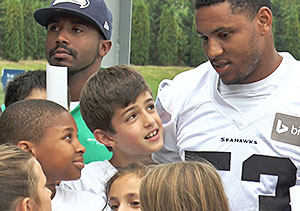 Members of the Bellevue Boys & Girls Clubs met Super Bowl MVP, linebacker Malcolm Smith