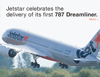 Jetstar celebrates the delivery of its first 787 Dreamliner