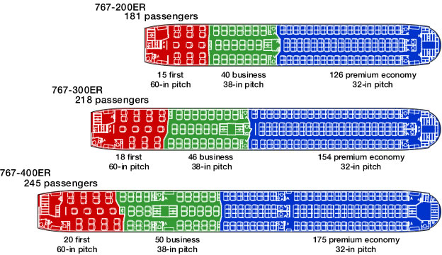 767 Extended Range Seating Charts