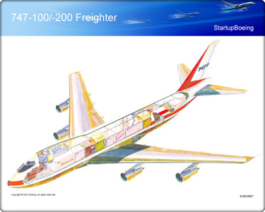 Boeing 747-200F cut-away image