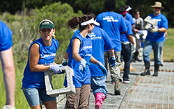 Boeing employees, family members and friends volunteering