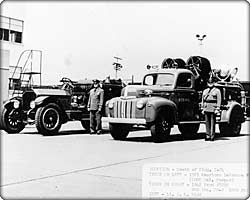 First fire trucks from the Air Force