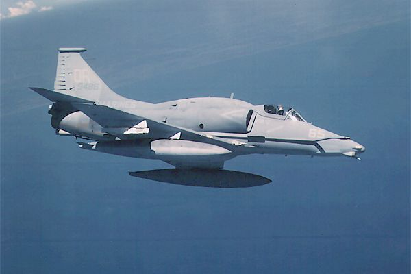 A-4 Skyhawk in flight