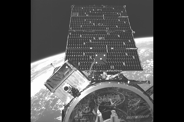 Image of NextSat captured by ASTRO's Visible Sensor 2