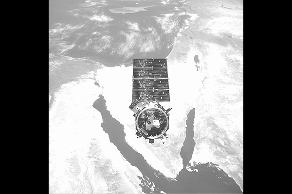 NextSat directly over the Sinai peninsula.
