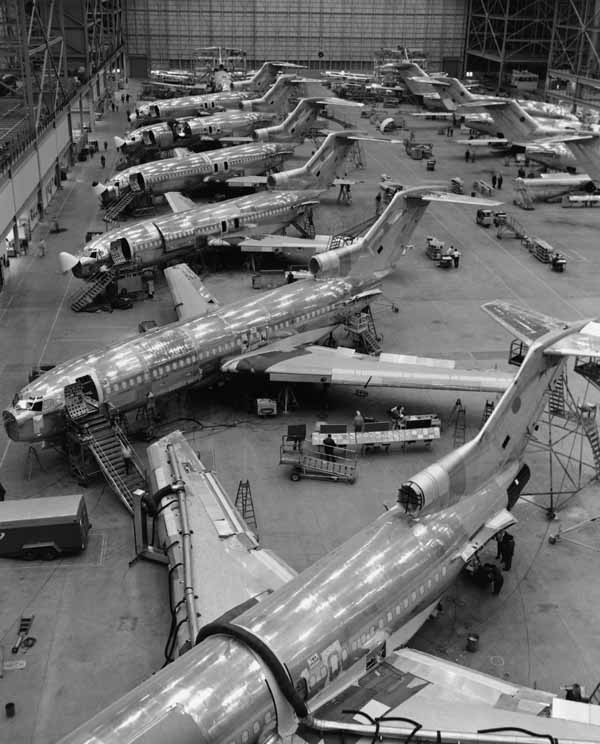 Boeing 727 production line