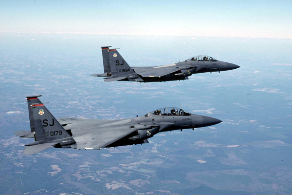 Seymour Johnson AFB, NC, 4th Fighter Wing F-15E Strike Eagles
