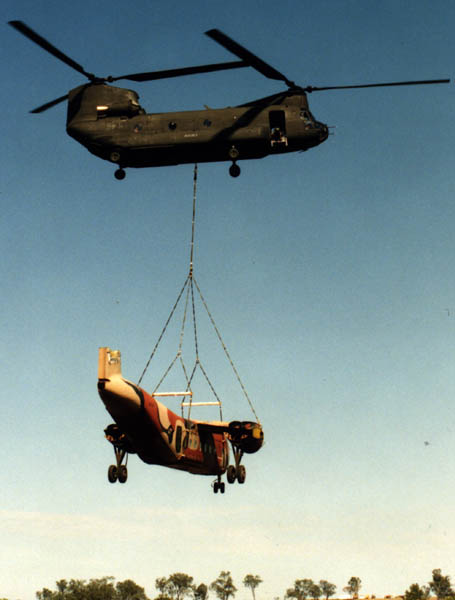 CH-47D Chinook transporting airframe
