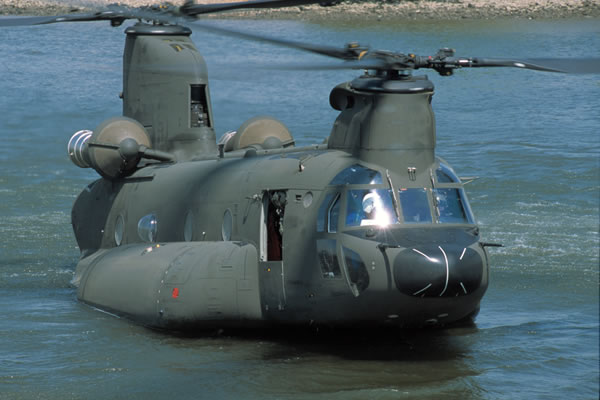 CH-47SD landing on water