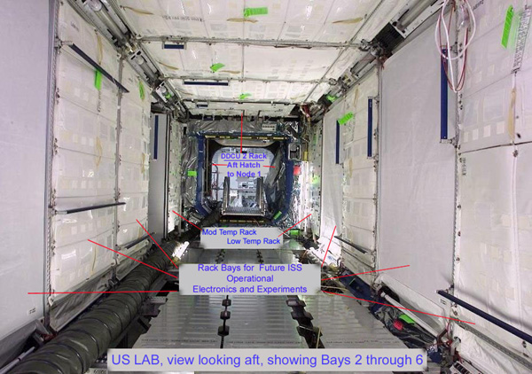 International Space Station Lab interior aft - descriptions