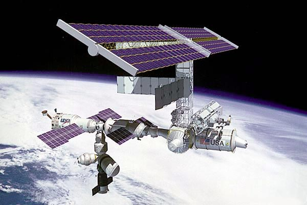 Illustration of International Space Station