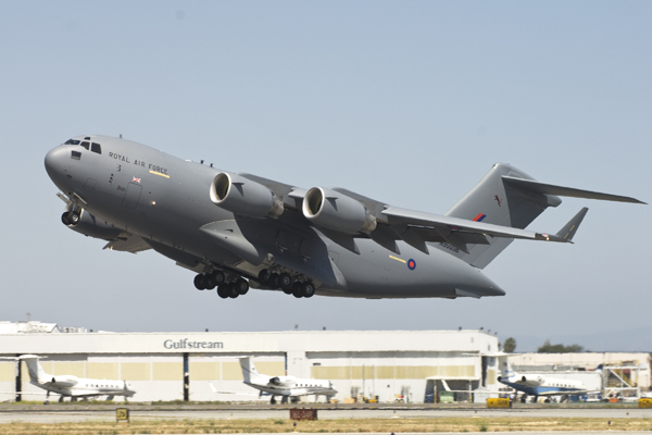 Boeing delivered the UK's sixth C-17 during a ceremony at the company's Long Beach, Calif., C-17 manufacturing facility.
