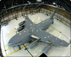 Top view of C-17 (Neg#: 070129-F-8716G-910_McChord07)