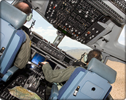 C-17 cockpit and two pilots (Neg#: c17sources)