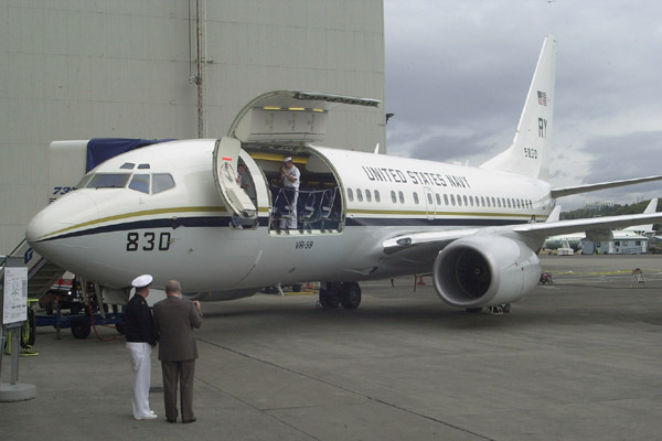 The main deck cargo of A C-40A