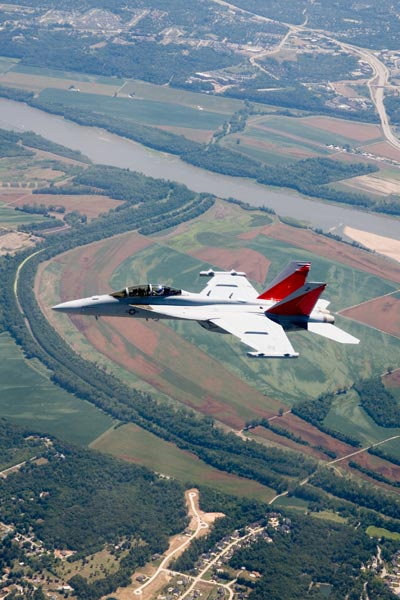 EA-18G first flight, Aug. 15, 2006
