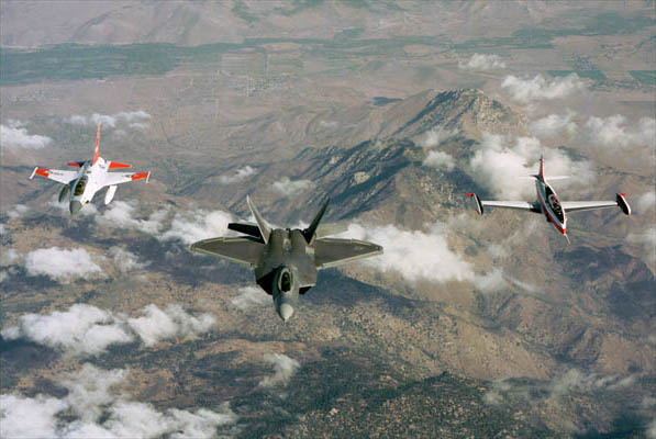F-22 Air Dominance Fighter with other planes