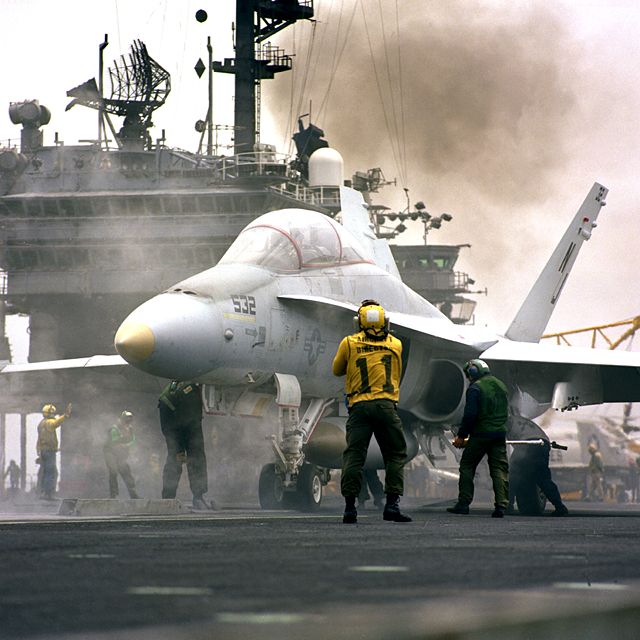 F/A-18 Hornet on carrier