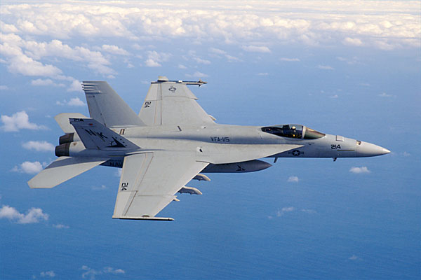 F/A-18 E/F in flight
