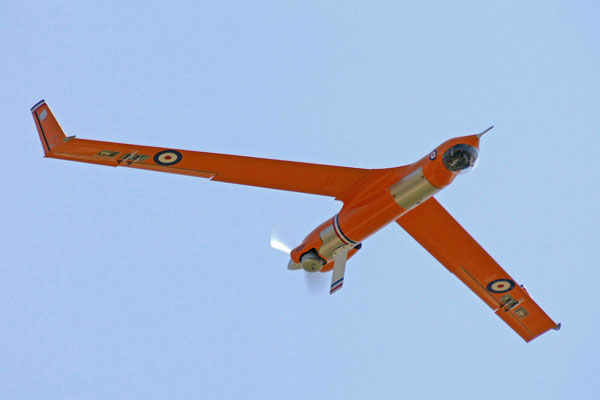 The Boeing/Insitu ScanEagle UAV became the first fixed-wing UAV to fly at a European public air show when it took to the skies at the Royal International Air Tattoo at RAF Fairford in July 2005.