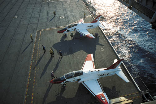 T-45 Goshawk on carrier