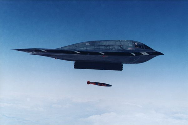JDAM on B-2 Spirit
