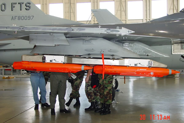 SDB system installed on an USAF F-16