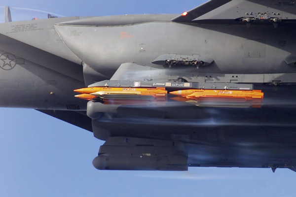 Small Diameter Bomb can be launched from a fighter, bomber or unmanned aircraft.