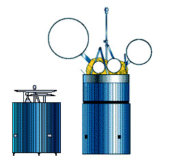 Stowed (left); In Orbit (right)