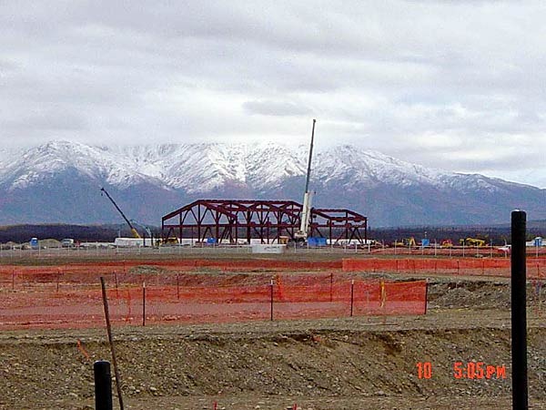 Fort Greely - Construction of R&C building.