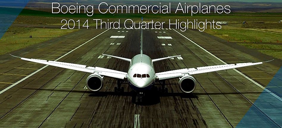 Boeing Commercial Airplanes 2014 Third Quarter Highlights