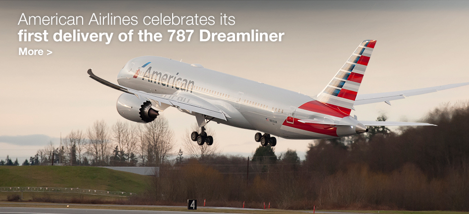 American Airlines celebrates its first delivery of the 787 Dreamliner