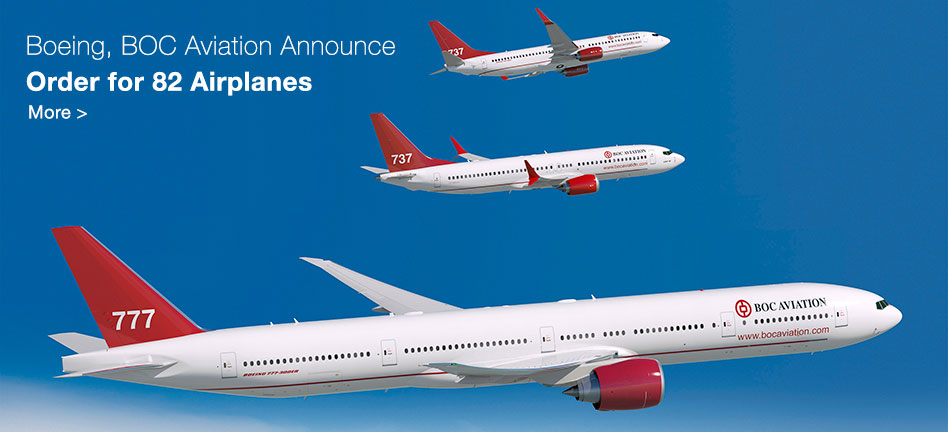 Boeing, BOC Aviation Announce Order for 82 Airplanes