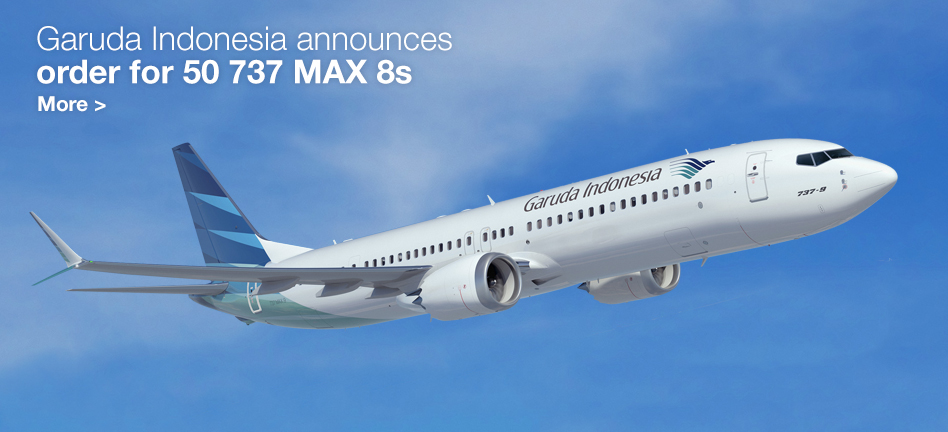 Garuda Indonesia announces order for 50 737 MAX 8s