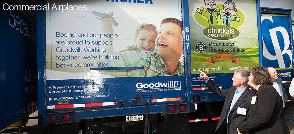 On a roll: Boeing helps spread Goodwill by the truckload (Video)