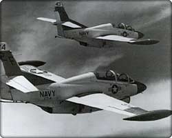Two T-2 Buckeye trainers