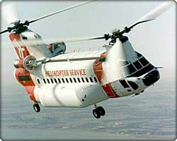 Model 234 Chinook helicopter in flight