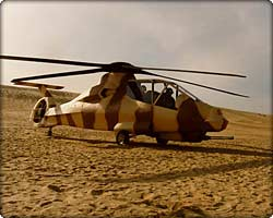 RAH-66 Comanche light helicopter on the sand