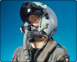 Joint Helmet Mounted Cueing System on pilot