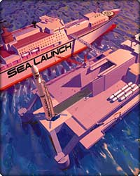 Artist rendition of Sea Launch satellite launching system