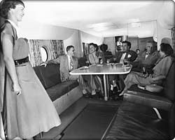 Model 377 Stratocruiser lower-deck lounge
