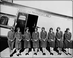 First stewardesses on Model 80A