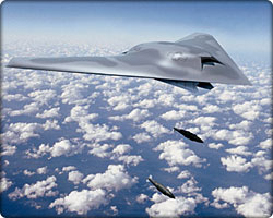 Artist's concept of X-45C Joint Unmanned Combat Air Systems
