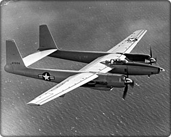 XF-11 reconnaissance aircraft in flight