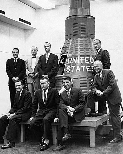 Original astronauts with James S. McDonnell