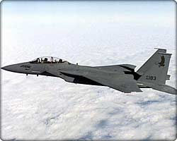F-15E Strike Eagle tactical fighter in flight