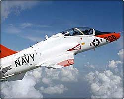 T-45A Goshawk jet trainer in flight